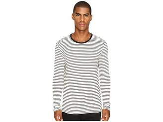 ATM Anthony Thomas Melillo Long Sleeve Striped Viscose Tee Men's T Shirt