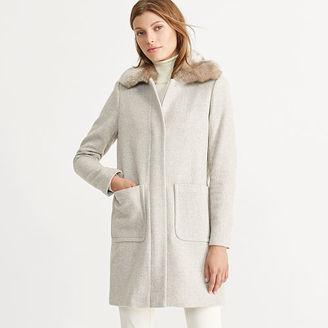 Ralph Lauren Faux Shearling–Trim Wool Coat $350 thestylecure.com