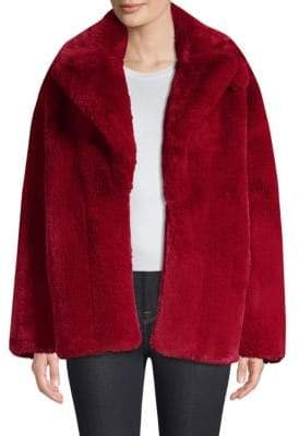 Diane von Furstenberg Collared Faux-Fur Teddy Coat