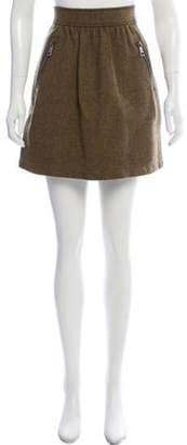 Burberry Zip-Accented Mini Skirt black Zip-Accented Mini Skirt