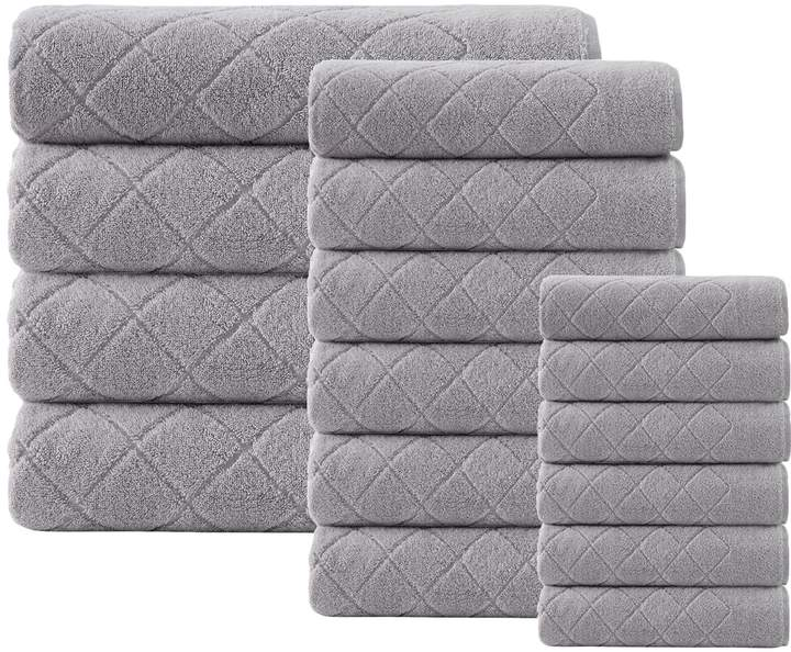 Enchante Home Gracious Cotton Towel Set (16 PC)