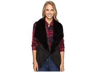 Lucky Brand Faux Shearling Waterfall Vest Women's Vest