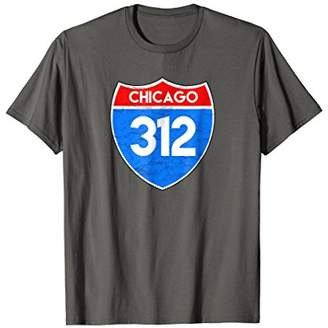Chicago 312 Area Code T-Shirt Vintage Road Sign Tee