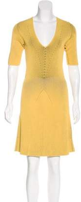 Marco De Vincenzo V-Neck Knee-Length Dress