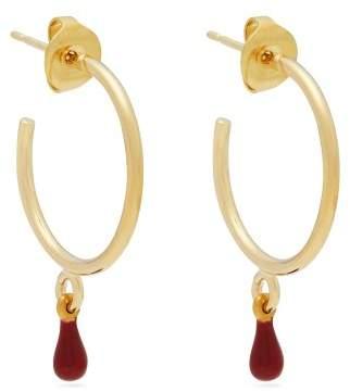 Isabel Marant Casablanca Teardrop Hoop Earrings - Womens - Red
