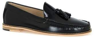 Topman Mens Black Leather Tassel Loafers