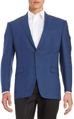 Calvin Klein Men's Slim-Fit Checked Wool Jacket