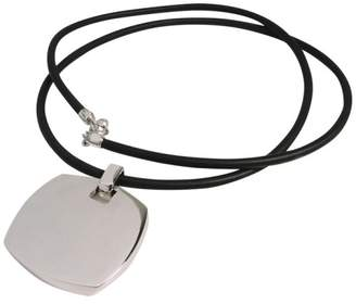 Tiffany & Co. Sterling Silver Pendant In Rubber Cord Necklace