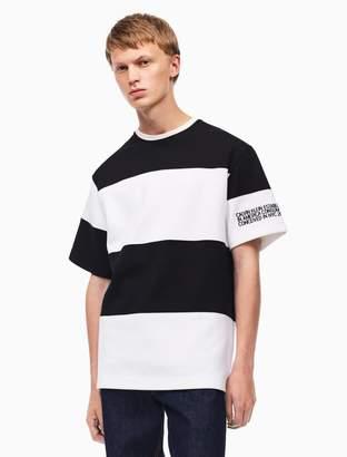Calvin Klein embroidered stripe t-shirt