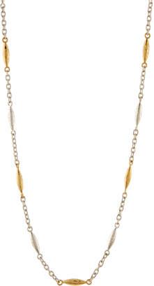"Gurhan Long Mini Wheat Station Necklace, 36""L"