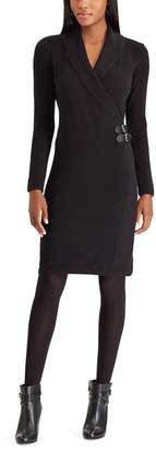 Chaps Women's Surplice Side-Buckle Dress