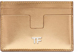 Tom Ford Metallic Leather Cardholder - Gold