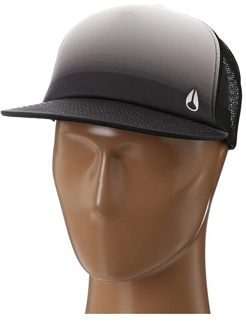 Nixon Snap Shot Trucker Hat (Black Fade) - Hats