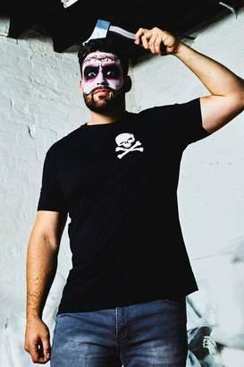 boohoo Big & Tall Halloween Skull & Cross Bones T-Shirt