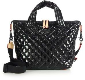 MZ Wallace Sutton Small Lacquered Quilted Nylon Tote $215 thestylecure.com