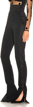 David Koma Side Panel Trouser Pant in Black | FWRD