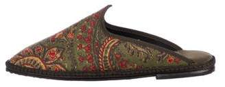 Fifi Venezia Brocade Loafer Mules