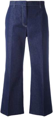 MSGM flared cropped trousers