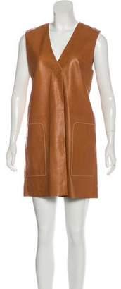Acne Studios Leather Shift Mini Dress
