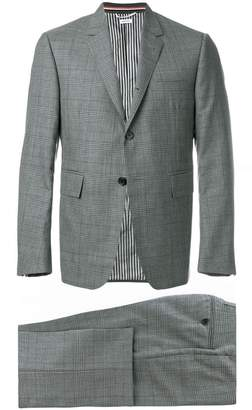 Thom Browne Classic Suit With Tie In Gingham Prince Of Wales Cool Wool