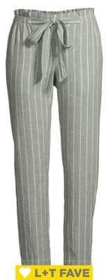 BeachLunchLounge Beach Lunch Lounge Pinstripe Linen & Cotton Pants