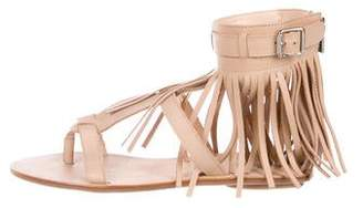 Loeffler Randall Leather Fringe-Accented Sandals