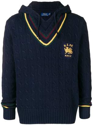 Polo Ralph Lauren hooded cable-knit jumper