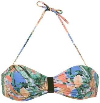 Track & Field printed Maya bikini top