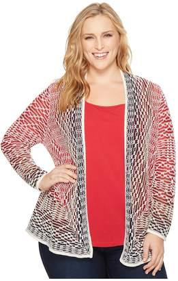 Nic+Zoe Plus Size Fireside Cardy Women's Sweater