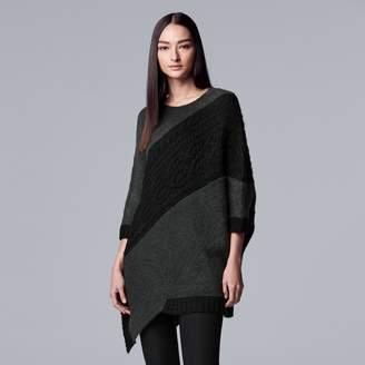 Vera Wang Simply Vera Women's Simply Asymmetrical-Hem Cable Knit Tunic Sweater