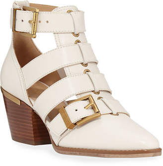 MICHAEL Michael Kors Griffin Cutout Leather Booties