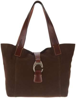 Dooney & Bourke Suede Leather Derby East/West Shopper Handbag