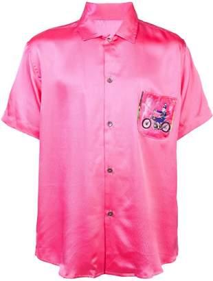 The Elder Statesman bike pocket short-sleeved shirt