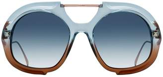 Fendi Eyewear large tonal gradient sunglasses