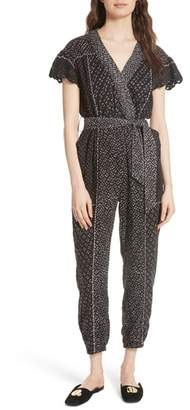 Ulla Johnson Reiko Crochet Trim Jumpsuit