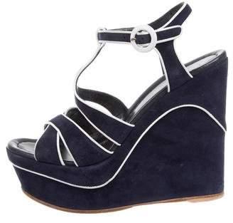 Gianvito Rossi Multistrap Wedge Sandals