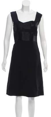 Prada Virgin Wool Sleeveless Knee-Length Dress