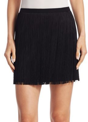 Saint Laurent Short Fringe Skirt $1,690 thestylecure.com