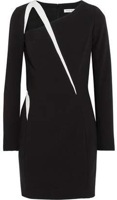 Thierry Mugler Cutout Two-Tone Crepe Mini Dress