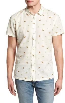 Blend of America Kahala Hale Niu Trim Fit Linen Camp Shirt