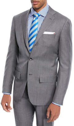 Kiton Super 160s Wool Sharkskin Two-Piece Suit