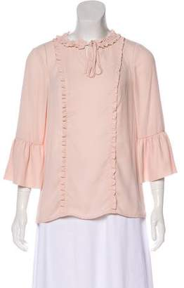 Karl Lagerfeld Ruffle-Accented Half Sleeve Blouse