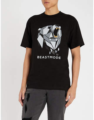 BEAST MODE Bear logo-print cotton-jersey T-shirt