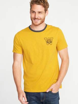 Old Navy Soft-Washed Graphic Ringer Tee for Men