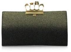 Alexander McQueen Glittered Leather Clutch