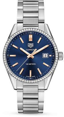 Tag Heuer Carrera Diamond Bezel Watch, 39mm