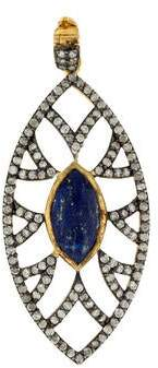 Lapis Meghna Jewels & Diamond Marquise Pendant