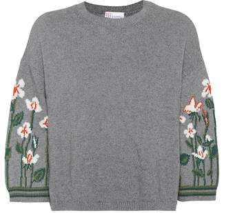 RED Valentino Garden of Metamorphosis wool-blend sweater