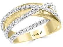 Bloomingdale's Diamond Crossover Ring in 14K White & Yellow Gold, 0.45 ct. t.w. - 100% Exclusive