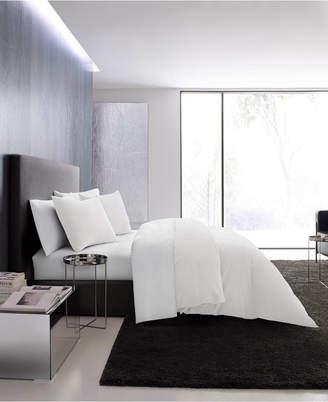 Vera Wang Waffle Pique White Duvet Set, Queen Bedding